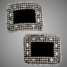 Victorian French cut steel shoe buckles