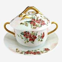 Limoges trembleuse cup hand painted c. 1896