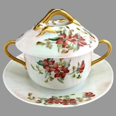 Limoges trembleuse cup hand painted c. 1896