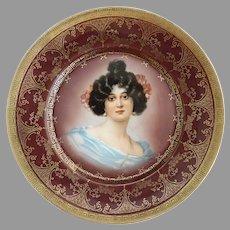 Antique portrait plate Royal Munich c. 1880