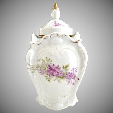 Victorian porcelain tea caddy Weimer Germany c. 1890s