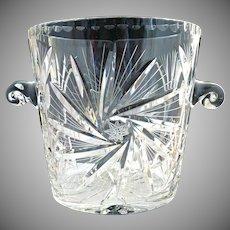 Vintage crystal cut glass ice bucket