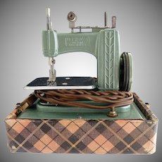 Betsy Ross toy sewing machine original case c. 1950s
