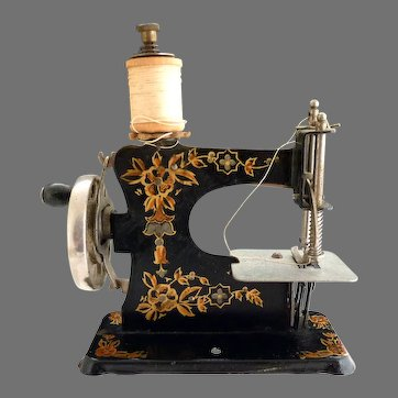 Antique German Casige toy sewing machine c. 1910