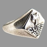 Boy Scouts Wolf Cub Scouts sterling silver ring BSA