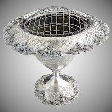 Vintage silver plate vase flower frog insert c. 1932