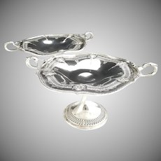 Simpson Hall & Miller silver plate tazza set Sheffield c. 1917