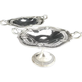 Simpson Hall & Miller silver plate compote set Sheffield c. 1917