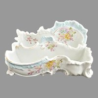 Antique porcelain letter holder ladies desk R.S. Prussia c. 1880s