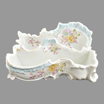 Antique porcelain letter holder ladies desk R.S. Prussia c. 1880s