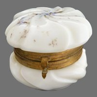 Victorian Wavecrest glass trinket box C.F. Monroe
