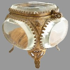 Victorian beveled glass jewelry casket