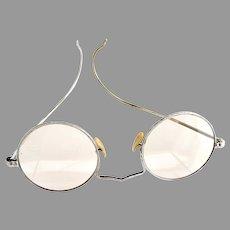 Vintage Bausch & Lomb eyeglasses silver embossed frame 12k G.F.