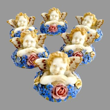Vintage Cherub place card holders Germany