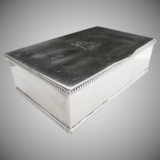 Silver plate cigarette box hand made stamped