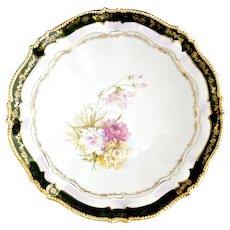 R.S. Prussia Altenburg antique porcelain bowl 24K beaded rim