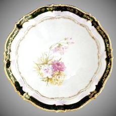 R.S. Prussia Altenburg antique porcelain bowl 24K beaded rim