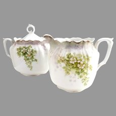 RS Prussia porcelain creamer and sugar