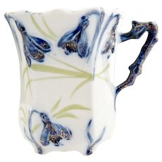 RS Prussia cobalt porcelain mustache chocolate cup