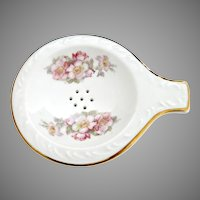 Gerold Porcelain tea strainer with bowl Bavaria