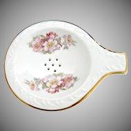 Gerold Porcelain tea strainer with bowl Bavaria