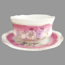 Antique porcelain oatmeal breakfast set