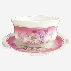 Antique porcelain oatmeal breakfast set