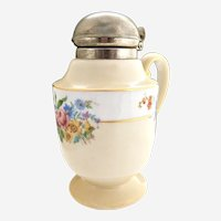 Royal Rochester syrup pitcher hand painted Fraunfelter 1930s