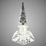 Vintage miniature cut glass perfume bottle