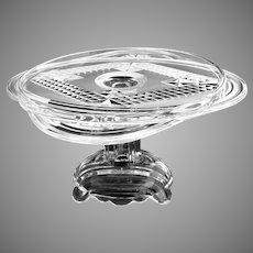 Antique Adams Glass cake salver mold NR120 c. 1884
