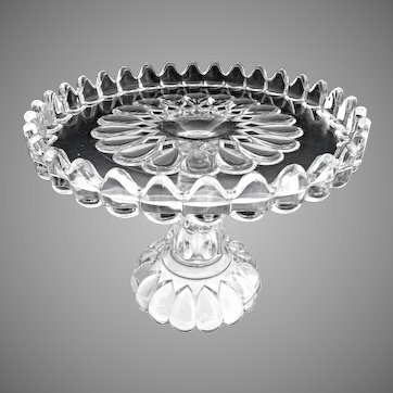 EAPG Adams Glass cake stand Jacobs Tears Art c. 1889