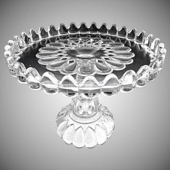 EAPG Adams Glass cake stand Jacobs Tears Art c. 1889
