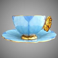 Aynsley England porcelain teacup butterfly handle