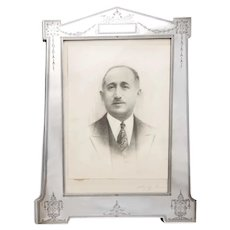 American Edwardian Sterling Silver Picture Frame, Circa 1900