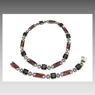 Art Deco Necklace and Bracelet Set by Fahrner