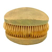 Men's Shagreen Covered Hair Brushes, Early 20th Century