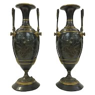 French Bronze Urns, Aesthetic Movement