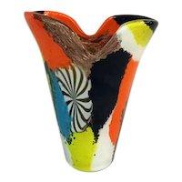 Dino Martens Oriente Series Murano Glass Vase