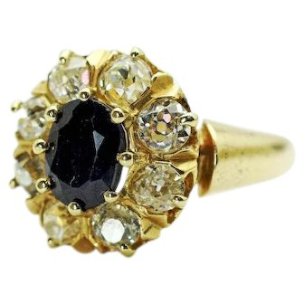Victorian Sapphire and Diamond Ring