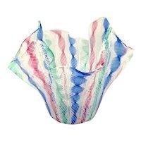 """Venini Glass Multi Colour Ribbons """"Fazzoletto"""" (Handkerchief) Bowl"""