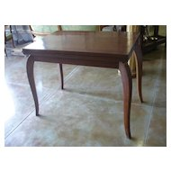 FALL SALE ITEM Early- Mid 20th Century French Foldable Palissandre Rosewood Veneer Game Table