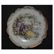 Miniature Limoges signed Fragonard Vintage Handpainted Porcelain Plate