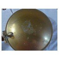 Vintage Brass Silent Butler/ Crumb Catcher with wooden handle