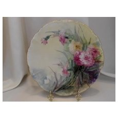 Very Lovely Limoges Plate; Julia Wells/Atlan Studio Founder; Gorgeous Carnations