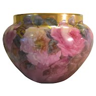 Breathtaking Antique Limoges France Jardiniere Planter ~ RARE ONE-OF-A-KIND ~ Creme de la Creme Fine Art Handpainted Roses