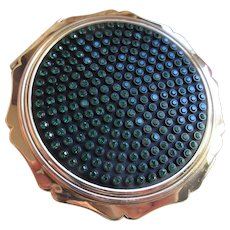 Vintage Stratton Jeweled Compact  English