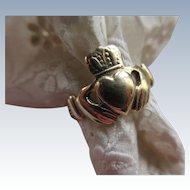 Vintage Irish Claddagh 9CT 375 Ring Irish Hallmarks