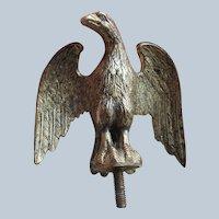 Antique Gilded Eagle Finial