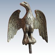Antique Gilded Eagle Finial