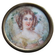Victorian Miniature Painting Signed